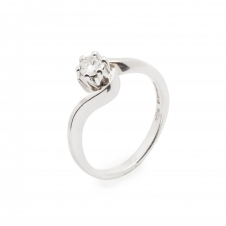 HS Johnson HSJMR001 18ct White Gold Solitaire 0.20ct Diamond Ring