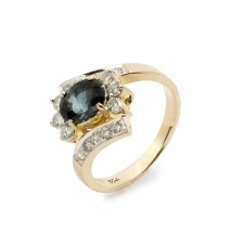 HS Johnson HSJMR004 18ct Yellow Gold Sapphire And Diamond Ring