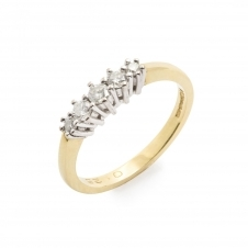 HS Johnson HSJMR005 18ct Yellow Gold 0.25ct Diamond Ring