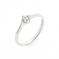 HS Johnson HSJMR007 9ct White Gold Diamond Solitaire Ring