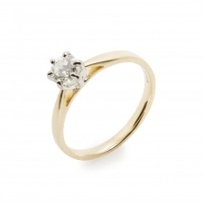 HS Johnson HSJMR010 18ct Yellow Gold Certificated 0.49ct Diamond Ring