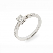 HS Johnson HSJMR014 Platinum Certificated 0.28ct Diamond Ring