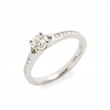 HS Johnson HSJMR015 Platinum Certificated 0.42ct Diamond Ring