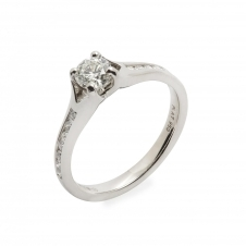 HS Johnson HSJMR017 Platinum Certificated 0.45ct Diamond Ring
