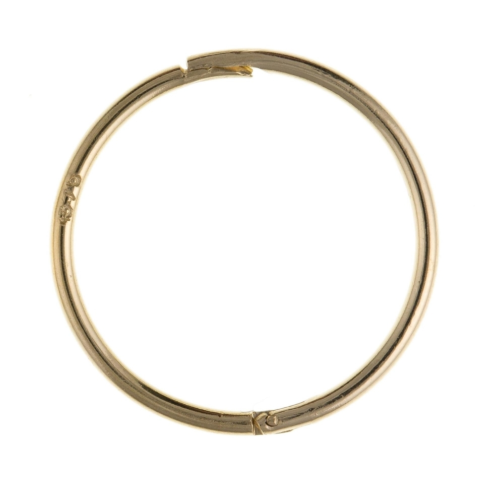 HS Johnson HSJ-AQ0026 9CT Gold Plain Hinged Hoop Earrings