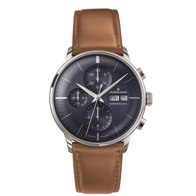 Junghans 027-4526.01 Meister Chronoscope Automatic Wristwatch