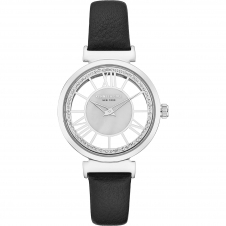 Kenneth Cole KC50189002 Women's Silver Tone Transparent Wristwatch