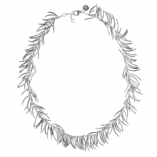 Rachel Galley M101-SV Women's Molto Necklace