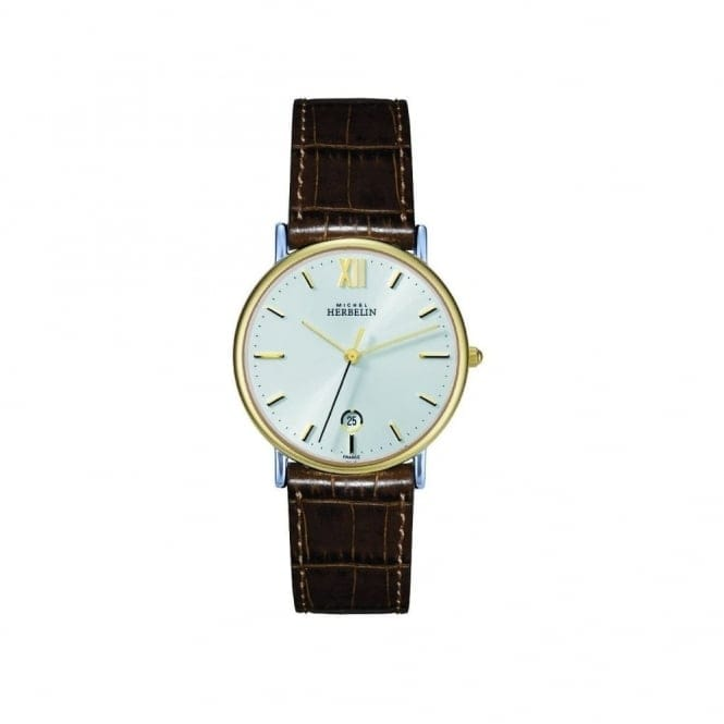 Michel Herbelin 12443/T11GO Men's Sonates Strap Wristwatch