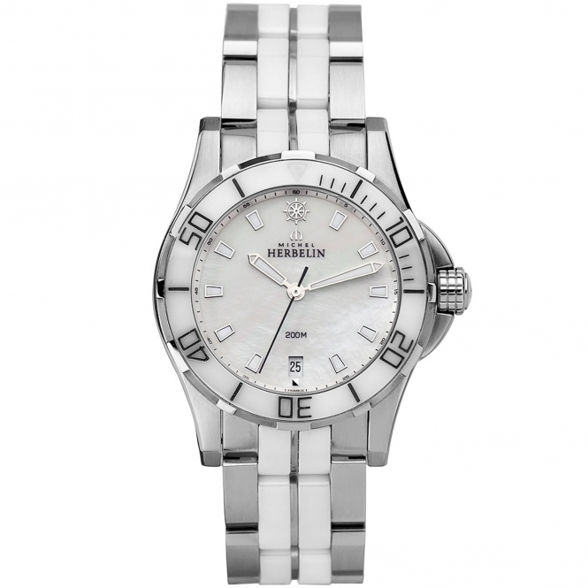 Michel Herbelin 12596/W19BW Women's Newport Trophy Wristwatch