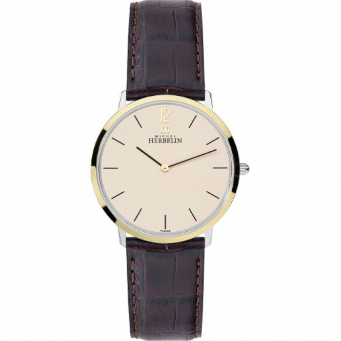 Michel Herbelin 17415-T17MA Men's Ikone Slim Dress Wristwatch