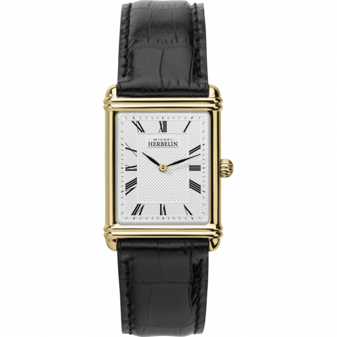 Michel Herbelin 17468-P08 Men's Esprit Art Deco Strap Wristwatch