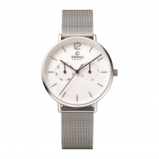 Obaku Flod Steel Men's Wristwatch V182GMCWMC