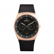 Obaku Jord Night Men's Wristwatch V176GMVBMB