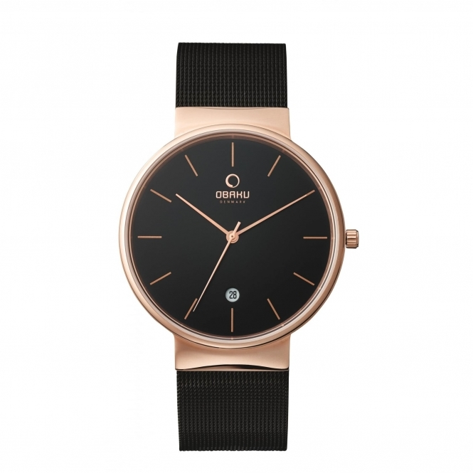 Obaku Klar Night Men's Wristwatch V153GDVBMB