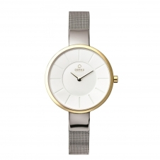 Obaku Sol Gold Bi Women's Wristwatch V149LXAIMC