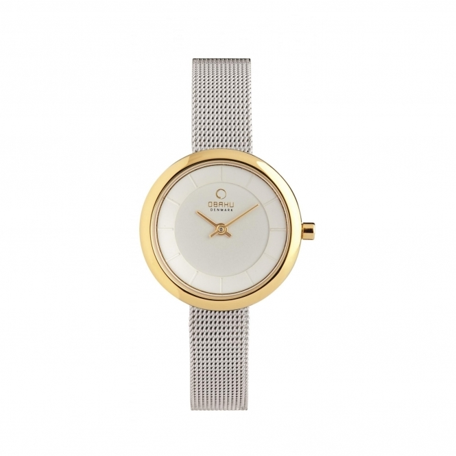 Obaku Stille Gold-Bi Women's Wristwatch V146LXGIMC
