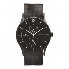 Obaku Torden Charcoal Men's Wristwatch V157GMBBMB