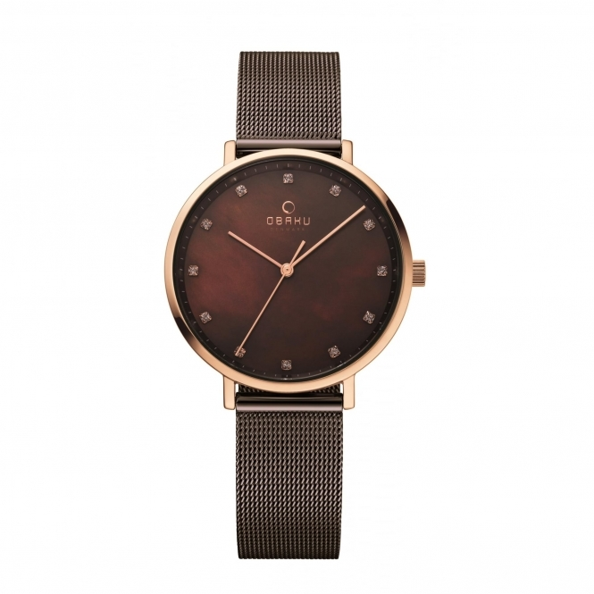 Obaku Vest Walnut Women's Wristwatch V186LXVNMN