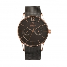 Obaku Vild Night Men's Wristwatch V175GMVBMB
