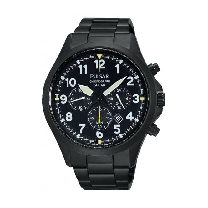 Pulsar PX5003X1 Men's Solar Chronograph Wristwatch