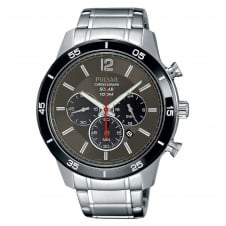 Pulsar PX5045X1 Men's Solar Chronograph Wristwatch