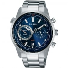 Pulsar PY7003X1 Men's Dual Hour Bracelet Wristwatch