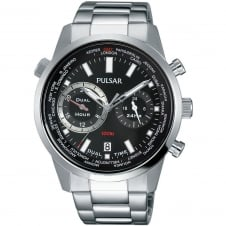 Pulsar PY7005X1 Men's Dual Hour Bracelet Wristwatch