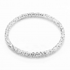 Rachel Galley A204-SV-LG Women's Allegro Skinny Silver Bangle