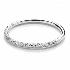 Rachel Galley A212-SV-LG Women's Allegro Half Polished Bangle