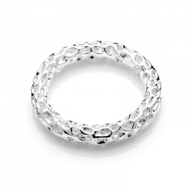 Rachel Galley A301-SV-LG Women's Mini Allegro Band Silver Ring