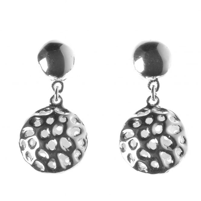 Rachel Galley D400-SV Women's Memento Disc Drop Stud Earrings