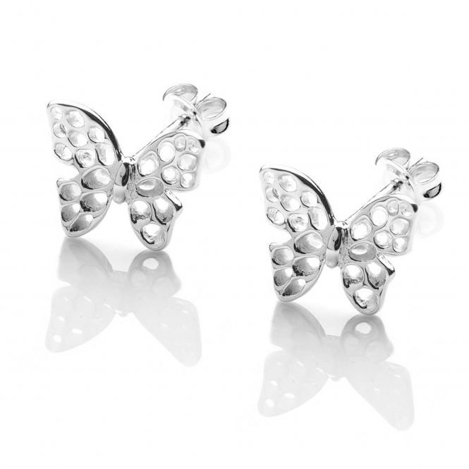 Rachel Galley F401-SV Women's Flutter Silver Stud Earrings