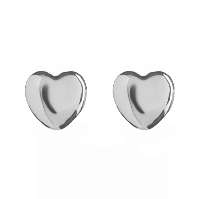 Rachel Galley H400-SV Women's Amore Heart Plain Stud Earrings