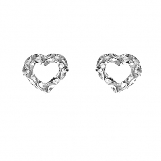 Rachel Galley H401-SV Women's Amore Open Heart Stud Earrings