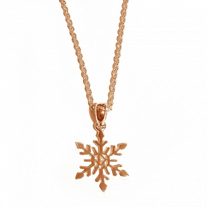 Rachel Galley SF101-RG Women's LIMITED EDITION Small Snowflake Pendant
