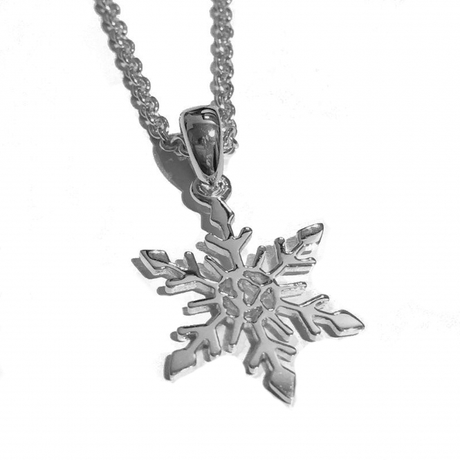 Rachel Galley SF101-SV Women's LIMITED EDITION Small Snowflake Pendant