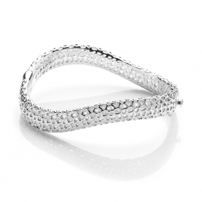 Rachel Galley WV201-SV Women's Wave Bangle