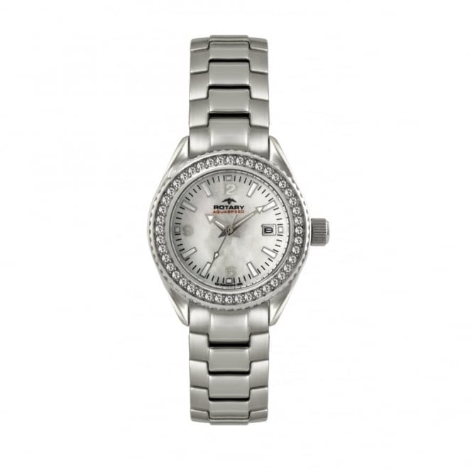 Rotary ALB00071-W-41 Women's' Stone Set Wristwatch