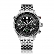 Rotary GB00699-10 Men's Aviation Chronograph Wristwatch
