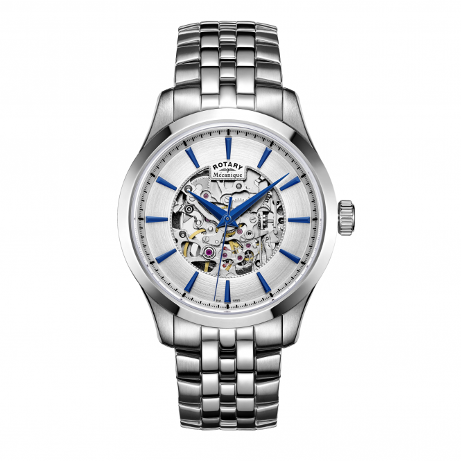 Rotary GB05032-06 Men's Mecanique Skeleton Wristwatch