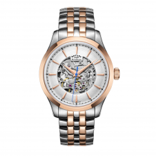 Rotary GB05034-06 Men's Mecanique Skeleton Two Tone Wristwatch