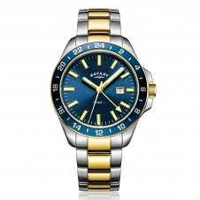 Rotary GB05082-05 Men's Havana GMT Wristwatch