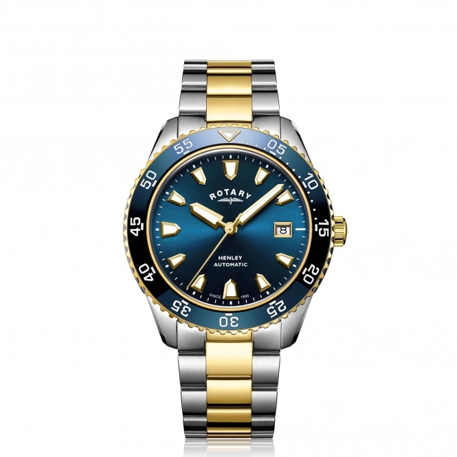 Rotary Gb05131 05 Men's Henley Two Tone Automatic Wristwatch by Rotary
