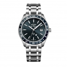 Rotary GB90172-05 Men's Legacy GMT Wristwatch