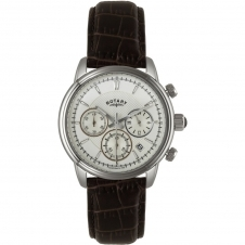 Rotary GS02876-06 Men's Stainless Steel Chronograph Wristwatch