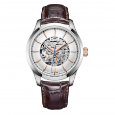 Rotary GS05032-06 Men's Mecanique Skeleton Wristwatch