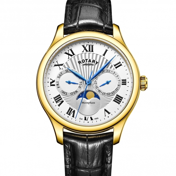 Rotary GS05066-01 Men's Moonphase Wristwatch