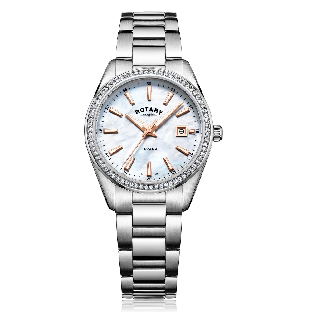 Buy Rotary LB05079-41 Womens Havana Mother of Pearl Wristwatch