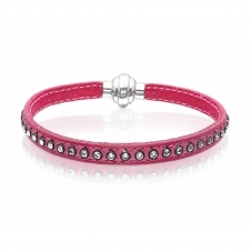 Sif Jakobs SJ-BR2359-FF-19 Women's Arezzo Bracelet In Fuschia Leather